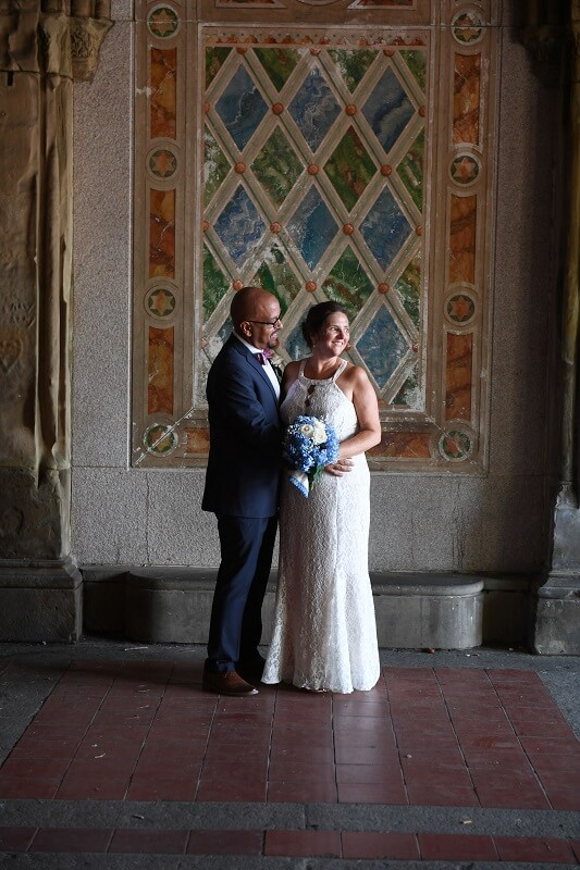 Ladies Pavilion Central Park Wedding CA190